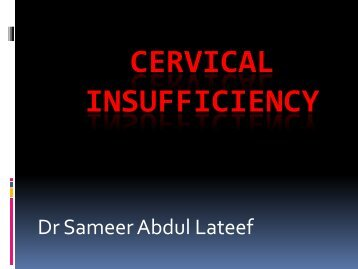 Cervical Insufficiency