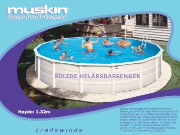Muskin Tradewinds Svømmebasseng - Partnerline AS