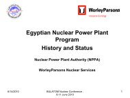 Egyptian Nuclear Power Plant Program History and Status