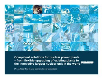 Competent solutions for nuclear power plants – from flexible ...