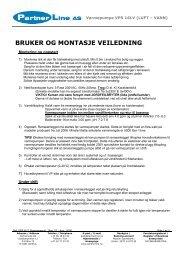 Brukerhåndbok - Varmepumpe 16kW Norsk - Partnerline AS