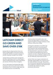 Latcham Direct Case Study - Business West