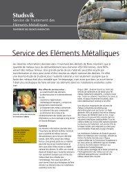 Service des Déchets Métalliques Service des Eléments ... - Studsvik