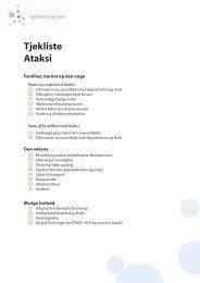 Tjekliste Ataks - Foreningen for ATAKSI / HSP