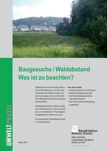 Baugesuche / Waldabstand Was ist zu beachten? - Amt für ...