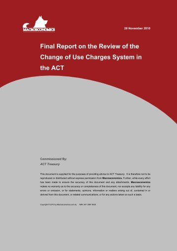 Final Report on the Review of the Change of Use ... - Treasury
