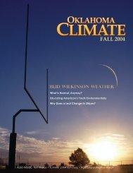 Oklahoma Climate Fall 2004.indd - Oklahoma Climatological Survey