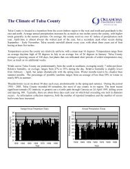 The Climate of Tulsa County - Tulsa County OSU Extension Service