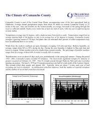 The Climate of Comanche County - Oklahoma Climatological Survey