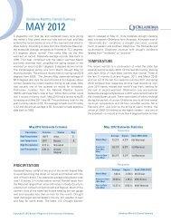 MAY 2012 - Oklahoma Climatological Survey