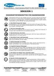 Brukerhåndbok - REGATTA Ovale NORSK - Partnerline AS