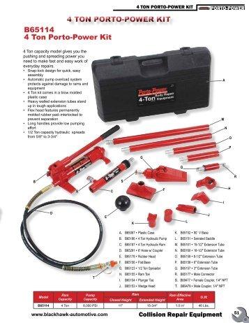 4 TON PORTO-POWER KIT B65114 4 Ton Porto-Power Kit - shinn fu ...