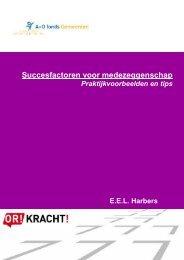 Succesfactoren voor medezeggenschap - praktijkvoorbeelden  tips
