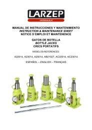manual de instrucciones y mantenimiento instruction & maintenance ...