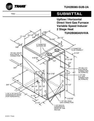 trane upflow horizontal gas furnace variable speed 2 stage rh yumpu com Carrier Horizontal Furnace Rheem Furnace Parts Diagram