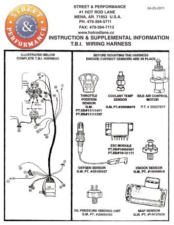 Street Performance Wiring Harness : 33 Wiring Diagram