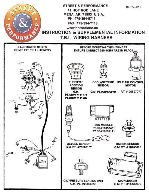 t.b.i. wiring harness - Street & Performance on
