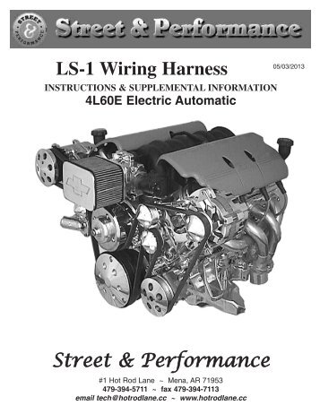 ls 1 wiring harness street performance rh yumpu com street and performance tpi wiring harness street and performance ls wiring harness