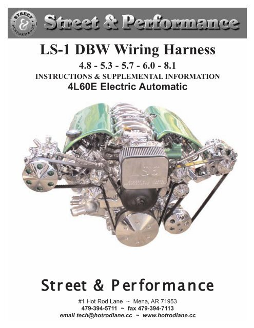 LS-1 DBW Wiring Harness Street & Performance  Wiring Harness For Hot Rods on