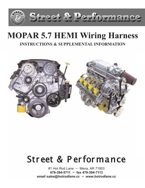 Excellent Mopar 5 7 Hemi Wiring Harness Street Performance Wiring Cloud Pendufoxcilixyz