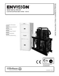 NK W R e v ersible Chiller Installation Manual - WaterFurnace