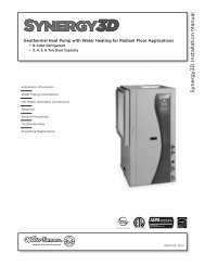 S ynergy3D Installation Manual - WaterFurnace