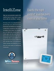Exactly the right comfort level for every room in your ... - WaterFurnace
