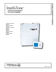 IntelliZone Installation Manual - WaterFurnace