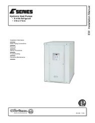 EW Installation Manual - WaterFurnace