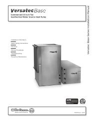 V ersatec Base Series Installation Manual - WaterFurnace