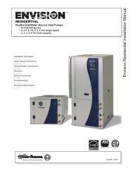 Envision Residential Installation Manual - WaterFurnace