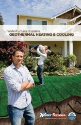 GEOTHERMAL HEATING & COOLING - WaterFurnace