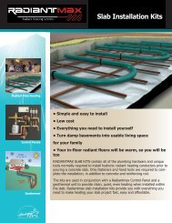 Radiantmax Slab Installation Kits Slab Installation Kits - WaterFurnace