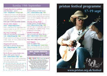 priston festival programme 17-19 sept