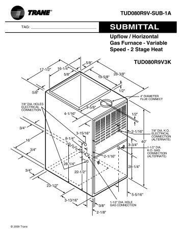 upflow horizontal gas furnace variable speed 2 stage rh yumpu com Carrier Horizontal Furnace Downflow Furnace Diagram