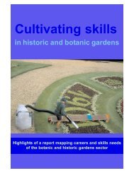 Cultivating Skills in Historic and Botanic Gardens - English Heritage
