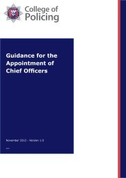 Guidance for appointment of Chief Officers - Police and Crime ...