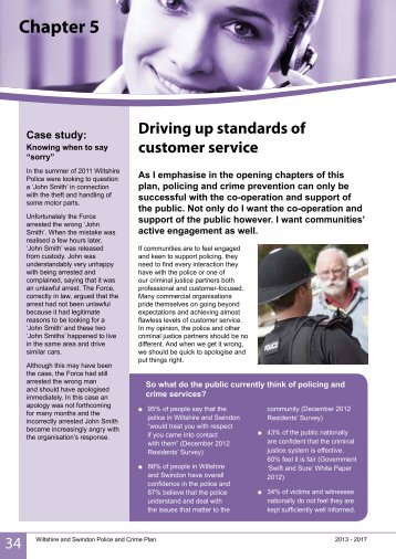 Driving up standards of customer service - Police and Crime ...