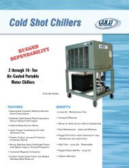 2 through 10 - Ton Air-Cooled Portable Water Chillers