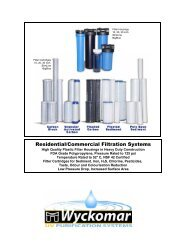 Residential/Commercial Filtration Systems