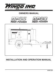 INSTALLATION AND OPERATION MANUAL ... - Hardy Diesel