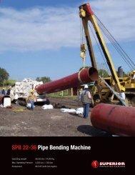 SPB 22-36 Pipe Bending machine