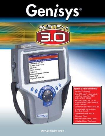 OTC Genisys Product Brochure - Auto Body Toolmart