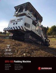 SPD-160 Padding machine