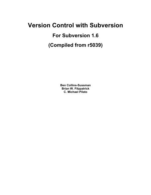 Download - Version Control with Subversion - Red Bean