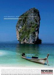 * Merde à la démocratie. Partez en vacances en Thaïlande.