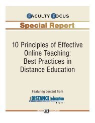 10 Principles of Effective Online Teaching: Best Practices
