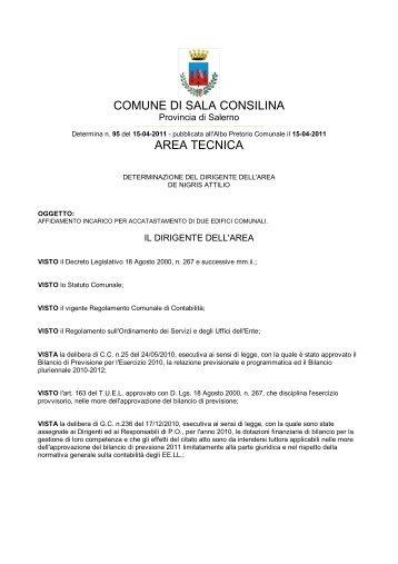 COMUNE DI SALA CONSILINA AREA TECNICA