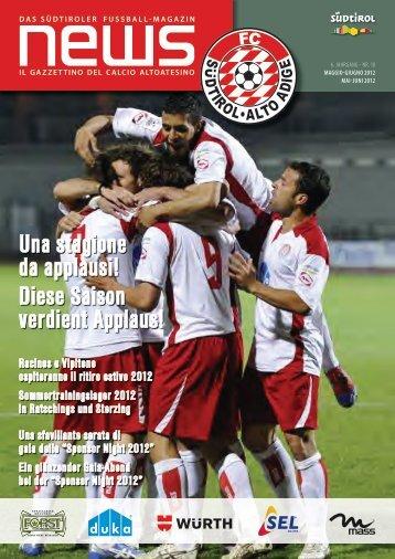Una stagione da applausi! Diese Saison verdient ... - FC Südtirol