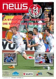 die saison der revanche! - FC Südtirol